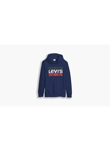 Levi's® 387970032 T3 Ic Hoodie Sports Kapüşonlu Cepli Erkek Sweatshirt Mavi